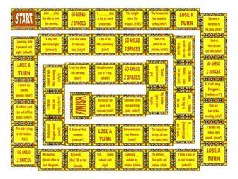 Past Simple Irregular Verbs Board Game