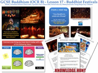 GCSE - Buddhism - Lesson 17  [Buddhist Festivals, Wesak, Vassa, Uposatha, Parinirvana] 2017