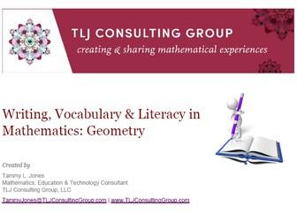 Writing, Vocabulary & Literacy in MS Mathematics: Geometry