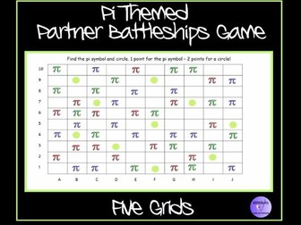 Pi Themed Partner Battleships Game - Ideal for Pi Day (14th March)