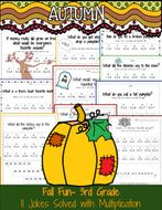 3rd Grade Math: Fall Jokes Solved with Multiplication