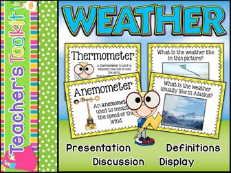 Weather | Definitions | Climate | Presentation | Posters | Display
