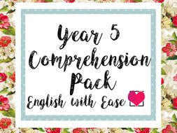 Year 5 Comprehension Pack