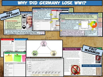 WW1 L15 - Why Did Germany Lose the War?