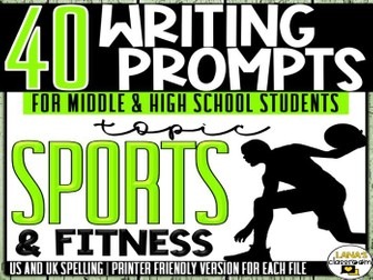 Daily Writing Prompts | Sports | Middle and High School