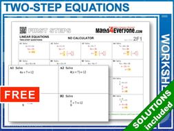 Two-step Equations (Worksheet Bundle)