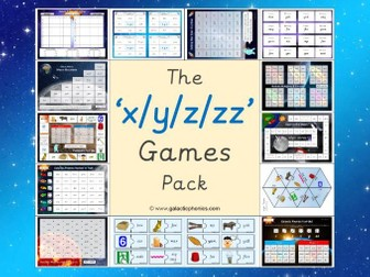 The 'x/y/z/zz' Phonics Games Pack (Letters & Sounds Phase 3)