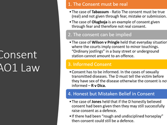 Consent, Intoxication, Self-Defence, Insanity, Necessity and Duress -full module slides and revision