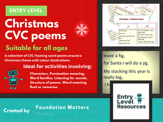 Christmas CVC poems