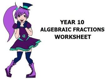 Algebraic Fractions Yr 9 or 10