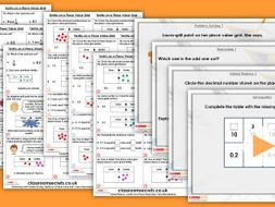 Year 4 Tenths on a Place Value Grid Spring Block 4 Step 3 Maths Lesson Pack