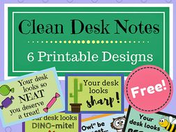 Clean Desk Notes-- FREEBIE!