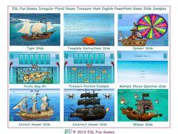 Irregular Plural Nouns Treasure Hunt Interactive English PowerPoint Game