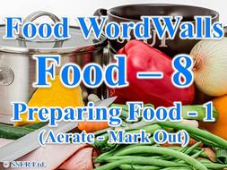 13.Preparing Food 1 (A-M) (Food Wordwalls)