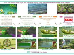 Road Signs and Directions Flying Frogs English PowerPoint Game