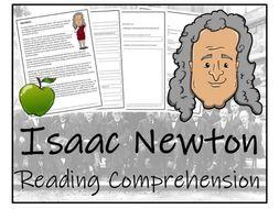 UKS2 Literacy - Sir Isaac Newton Reading Comprehension Activity