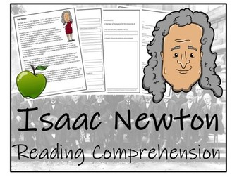 UKS2 Literacy - Sir Isaac Newton Reading Comprehension Activity