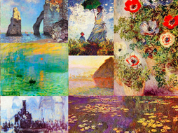 Printable Art Cards ~ Impression ~ Art History ~ Flash Review Cards ~ Impressionism