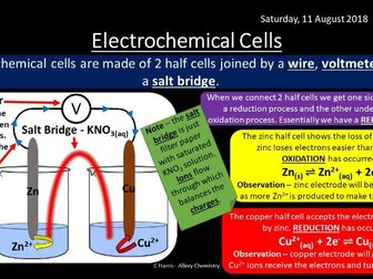 NEW OCR A Yr2 5.2.3 Redox and Electrode Potentials Revision