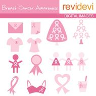 Clip Art Breast Cancer Awareness Pink Ribbon Clipart 07041
