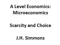 what is scarcity in microeconomics