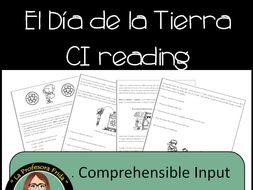 Earth Day! El Dia de la Tierra Reading Comprehension Practice