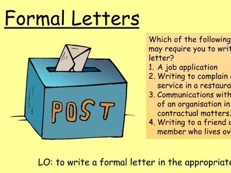 Formal Letter Writing for GCSE