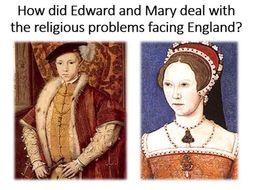 Tudor religion Edward and Mary's Reigns