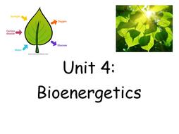 Unit 4: Bio-energetics (Photosynthesis) Revision Booklet