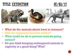 Extinction - complete lesson (KS3)