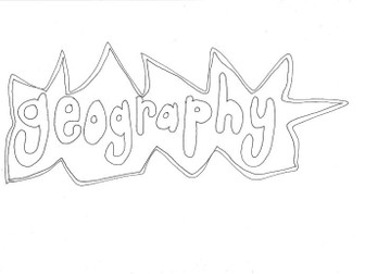 Geography: School Subjects: Colouring Page