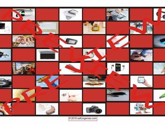 Technology and Gadgets Checker Board Game