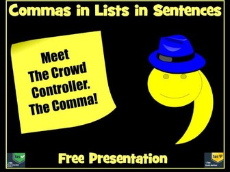 Commas in Lists Free Presentation