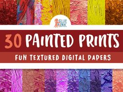 Painted Prints Digital Paper – Commercial Use