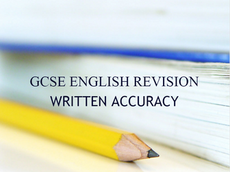 GCSE Revision - Any Spec -  Written Accuracy