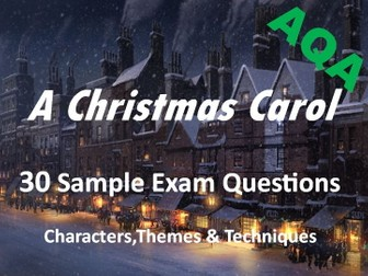 A Christmas Carol - Exam Questions