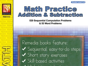 Addition & Subtraction: Math Practice