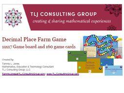 Decimal Farm Game with 160 Decimal Cards