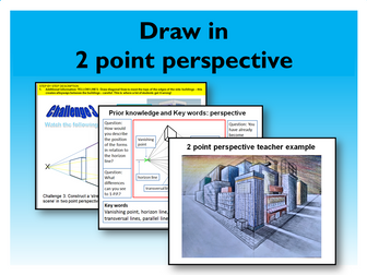 8. Graphic Design in 2 point perspective