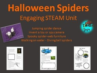 Halloween Spiders: Project based learning - STEAM, Biomimicry -UK