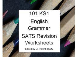 101 KS1 Grammar SATs Revision Worksheets - Perfect for Homework and Revision