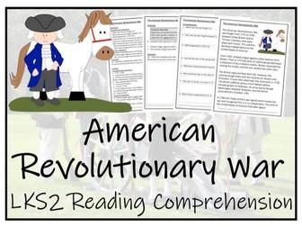 LKS2 American Revolutionary War Reading Comprehension Activity