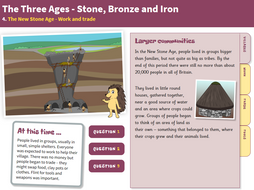Work and Trade - Interactive Teaching Book - The Stone Age KS2