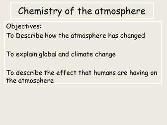 AQA Trilogy Chemistry of the Atmosphere