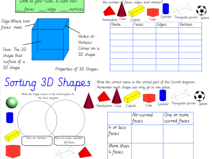 3d Shape Venn Diagram Worksheet Ks1 Wiring