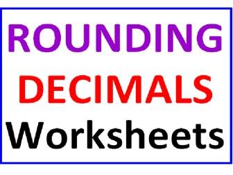 Rounding Decimals (3 Worksheets)
