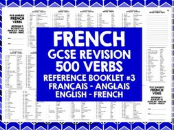 GCSE FRENCH: FRENCH 500 VERBS REFERENCE BOOK #3