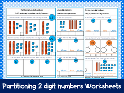 year  maths partitioning  digit numbers differentiated  year  maths partitioning  digit numbers differentiated worksheets by  classroomowlresources  teaching resources  tes