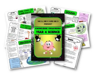 Year 4 Science Knowledge Organisers and Cheat Sheets - Mr A, Mr C and Mr D Present
