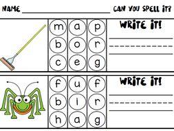 Spelling CVC Words Activity